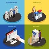 Grupo dos ícones do conceito das eleições ilustração royalty free