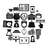 Grupo dos ícones do dever, estilo simples ilustração royalty free
