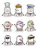 Grupo dos avatars masculinos - negócio, saúde e lazer ilustração do vetor