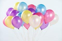 Grupo dos balões coloridos disparados no estúdio Imagens de Stock Royalty Free