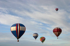 Grupo dos balões de ar quente Fotografia de Stock