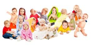 Grupo dos bebês Fotografia de Stock