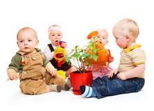 Grupo dos bebês Imagens de Stock Royalty Free