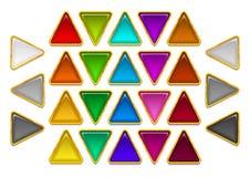 Grupo dos botões de vidro Foto de Stock Royalty Free