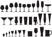 Grupo dos cálices de vidro ilustração stock