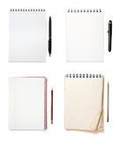 Grupo dos cadernos Fotografia de Stock Royalty Free