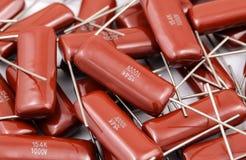 Grupo dos capacitores Fotos de Stock