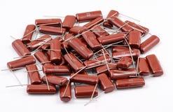 Grupo dos capacitores Fotografia de Stock Royalty Free