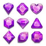 Grupo dos cristais violetas ilustração royalty free