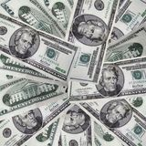 Grupo dos dólares Fotografia de Stock