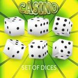 Grupo dos dados do casino Foto de Stock