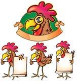 Grupo dos desenhos animados da galinha isolado Imagens de Stock