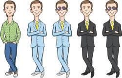Grupo dos desenhos animados do gajo ilustração royalty free