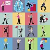 Grupo dos desenhos animados do trabalhador de escritório Ilustração Royalty Free