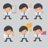 Grupo dos desenhos animados do trabalhador do negócio de caráter Imagens de Stock Royalty Free