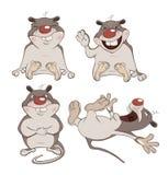 Grupo dos desenhos animados dos hamster Fotos de Stock Royalty Free