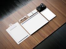 Grupo dos elementos brancos da placa do negócio 3d Imagens de Stock Royalty Free