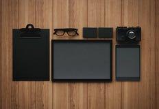 Grupo dos elementos clássicos da placa do negócio 3d Fotos de Stock Royalty Free
