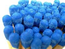 grupo dos fósforos azuis - isolados Foto de Stock Royalty Free