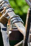 Grupo dos fechamentos Metal o fechamento Segurança, segura Imagens de Stock