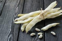 Grupo dos feijões de corda brancos Fotografia de Stock