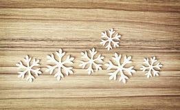 Grupo dos flocos de neve brancos, símbolo do inverno Fotografia de Stock Royalty Free
