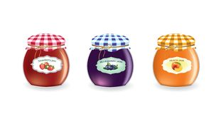 Grupo dos frascos do doce ilustração stock