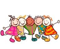 Grupo dos miúdos ilustração do vetor