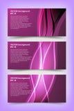 Grupo dos moldes violetas da bandeira Imagens de Stock