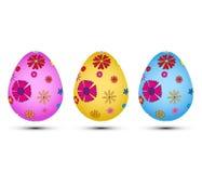 Grupo dos ovos da páscoa EPS Imagens de Stock Royalty Free