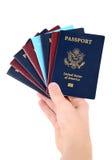Grupo dos passaportes Fotografia de Stock Royalty Free
