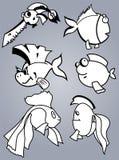 Grupo dos peixes Foto de Stock