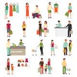 Grupo dos povos da compra Imagens de Stock