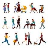 Grupo dos povos de cidade Imagens de Stock Royalty Free