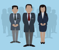 Grupo dos povos de negócio Imagens de Stock Royalty Free