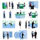 Grupo dos povos do banco ilustração royalty free