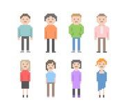 Grupo dos povos do pixel Foto de Stock