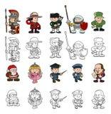 Grupo dos povos dos desenhos animados Imagem de Stock