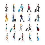 Grupo dos povos e da bagagem ilustração stock