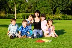 Grupo dos Preschoolers Fotos de Stock
