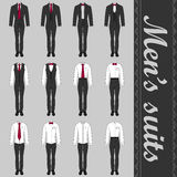 Grupo dos ternos dos homens ilustração stock