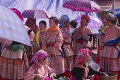 Grupo dos womenâs de Hmong da flor Foto de Stock