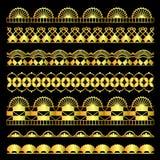 Grupo dourado de fitas do laço ilustração royalty free