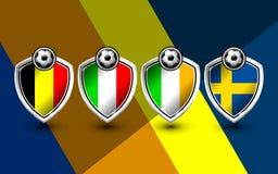 Grupo e de fútbol Europa Imagen de archivo libre de regalías