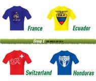 Grupo E del mundial 2014 del Fifa Foto de archivo libre de regalías