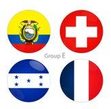Grupo E - Ecuador, Suiza, Honduras, Francia stock de ilustración
