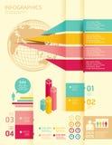 Grupo e informação de Infographics Foto de Stock Royalty Free