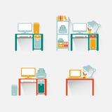 Grupo e tabela do computador Projeto Foto de Stock Royalty Free