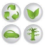 grupo Eco-amigável do vetor dos ícones Foto de Stock Royalty Free