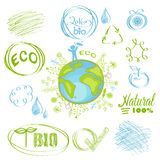 Grupo ecológico ilustração royalty free